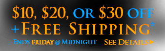 Halloween - $10, $20, or $30 off your order* - ends Friday at midnight - see details
