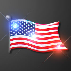 Light Up American Flag LED Pin
