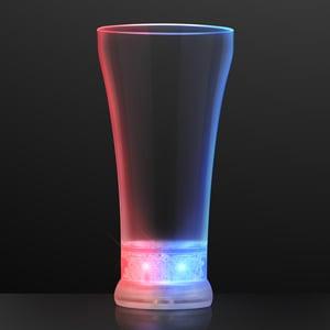 Red White & Blue Pilsner Light Up Glass