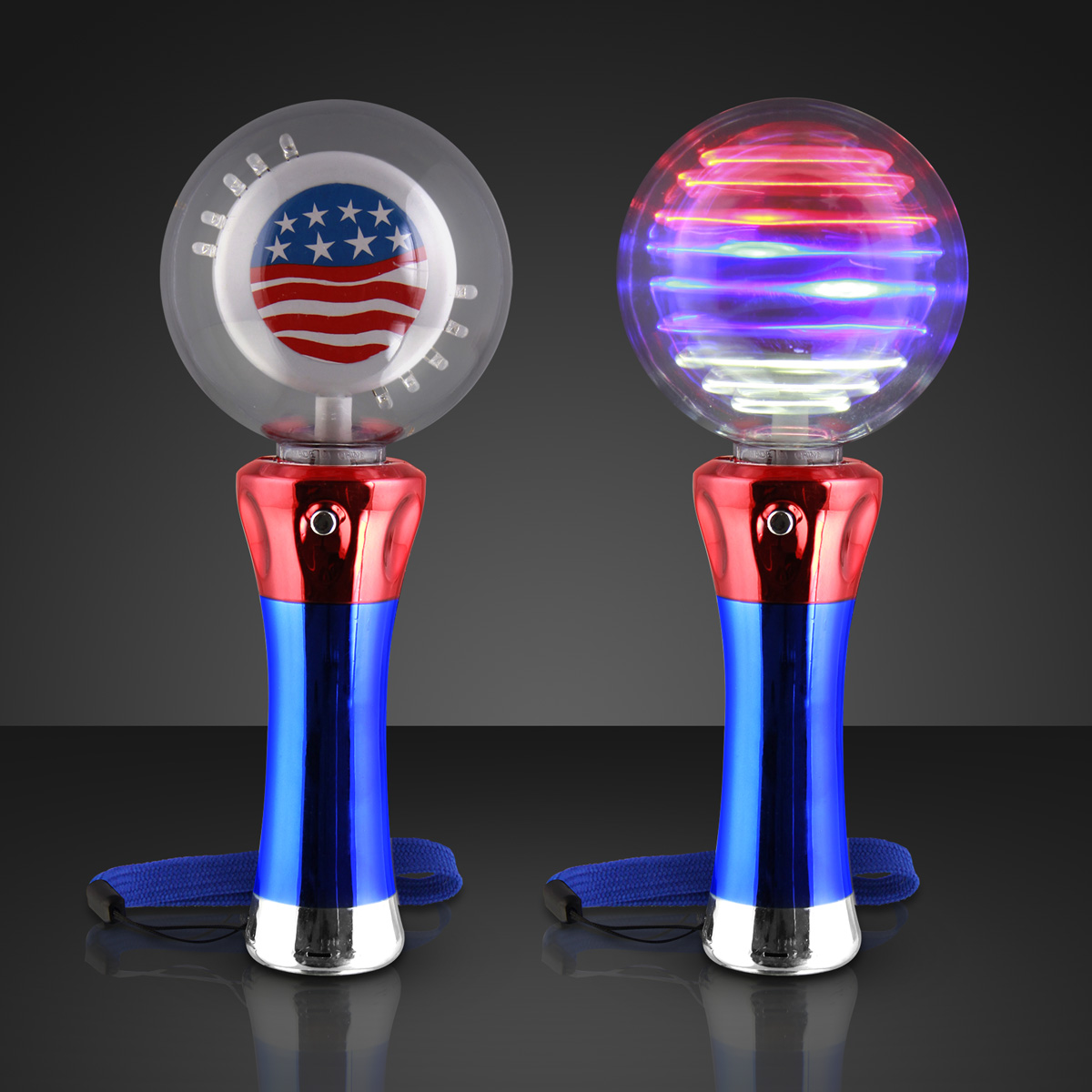 Light Up Magic Spinning American Flag