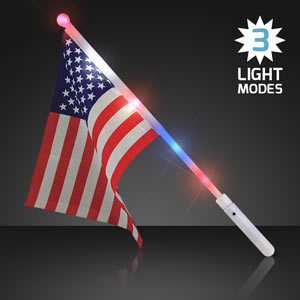 Light Up American Flags