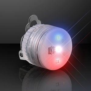 Red White Blue LED Light Up Clip On Pin