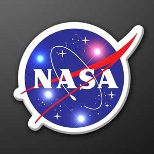 LED NASA Light Up Body Pin