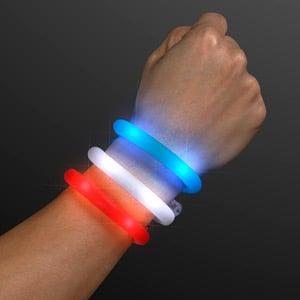 Light Up 4th of July Assorted Tube Bracelets