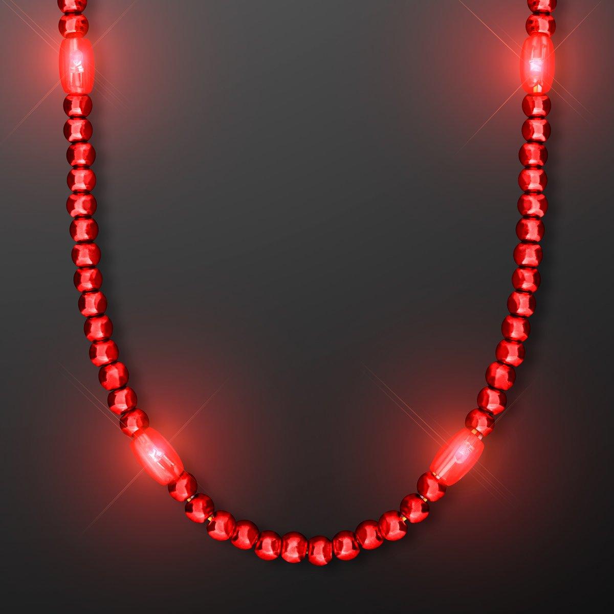 Rocking Red LED Light Up Mardi Gras Beads