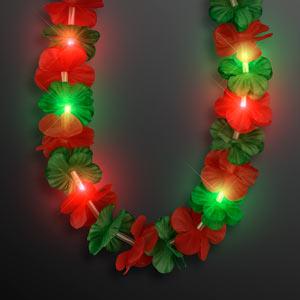 Light Up Hawaiian Christmas Leis