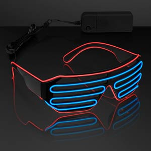 EL Wire Red & Blue Party Shades