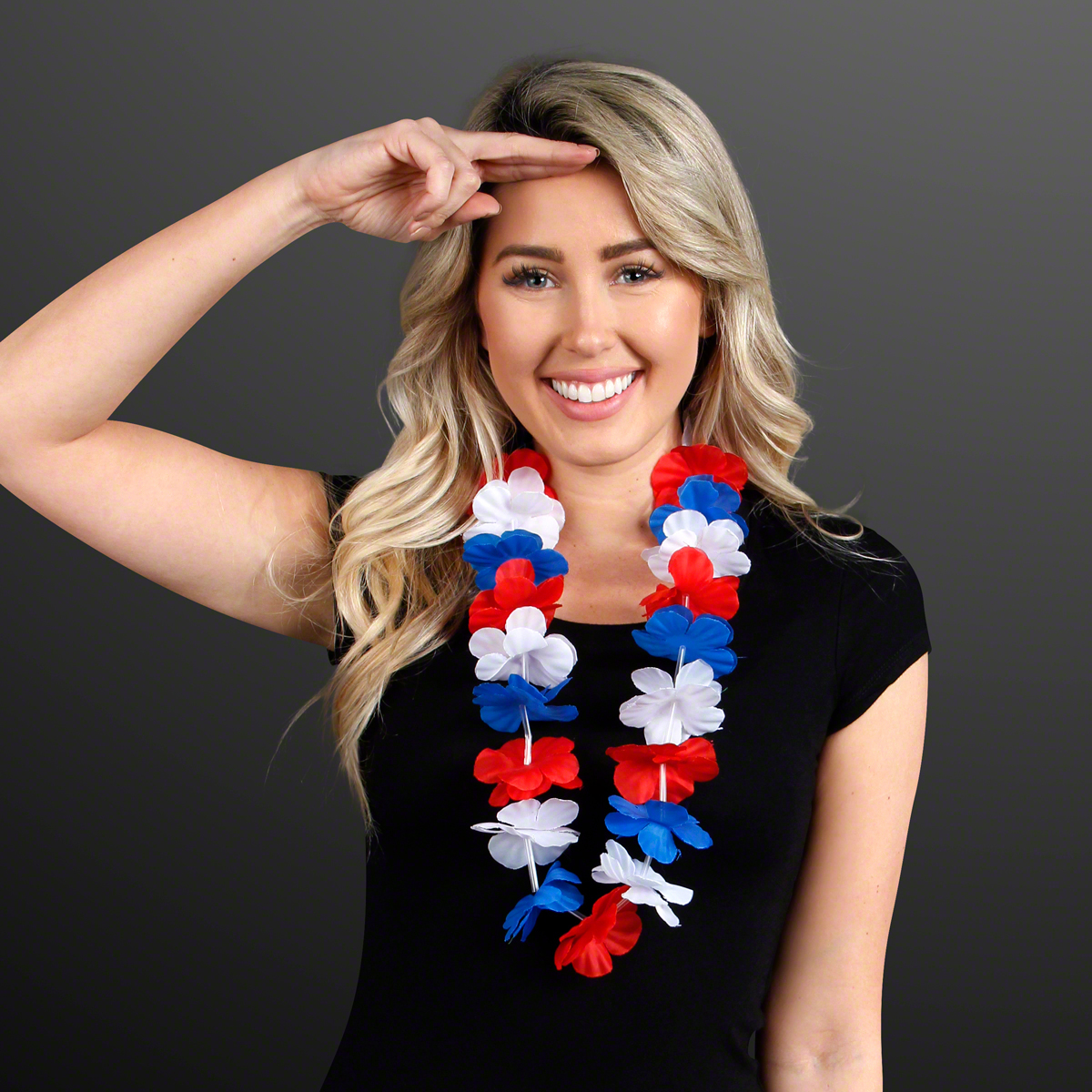 Red White & Blue Lei Necklace