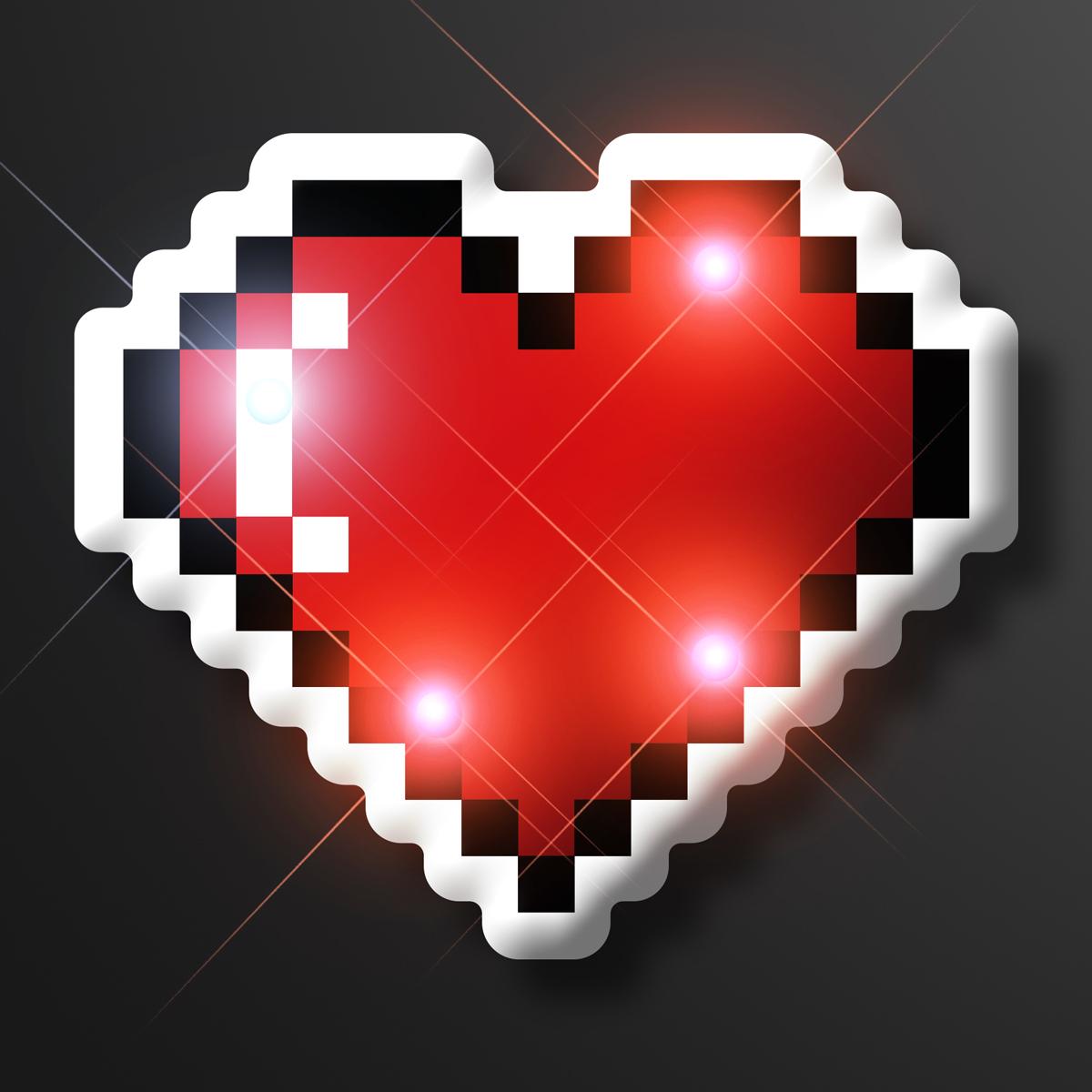 Light Up 8 Bit Pixel Heart Led Pin Flashingblinkylights Download 12,678 pixel heart free vectors. usd