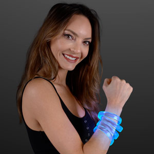 LED Blue Glow Band Bracelet