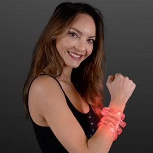 LED Red Glow Band Bracelet