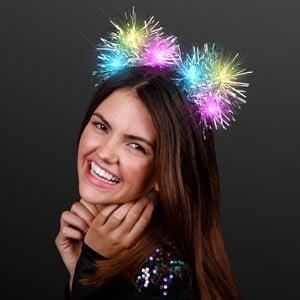 Light Up Tinsel Pom Pom Headband