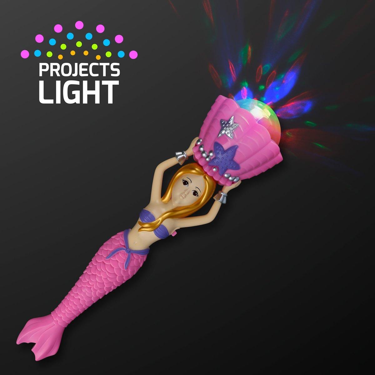 Mermaid Light Up Spinning Wand
