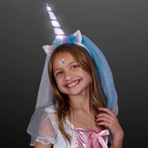 Light Up Princess Unicorn Veil LED Headband
