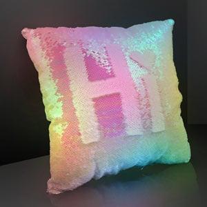 Light Up Luminous Mermaid Sequin LED Pillow