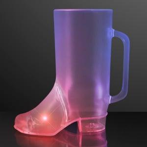 Light Up Beer Boot Mug LED Drinking Glass