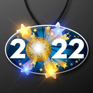 LED 2022 New Year's Eve Light Up Necklace