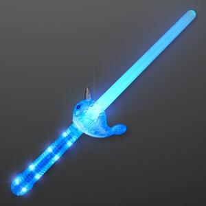 Light Up Narwhal Mini LED Sword