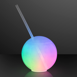 LED Light Up Ball Tumbler and Straw
