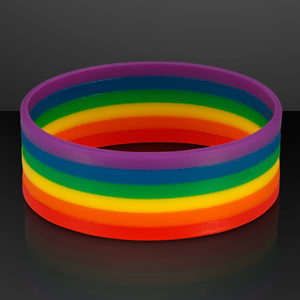 Non-Light Up Rainbow Silicone Bracelet