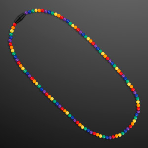 Rainbow Beads NON-Light Up Necklace