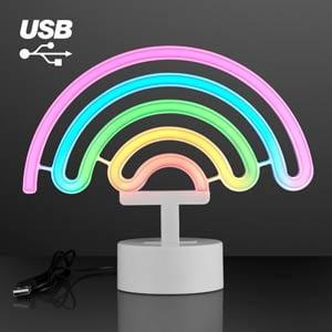 LED Neon Rainbow USB Tabletop Light