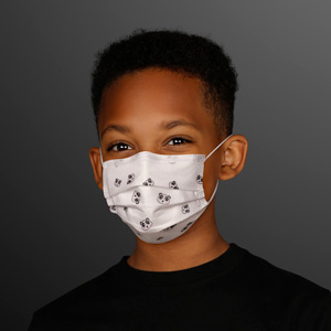 Boy wearing Cute Pandas Small Disposable Mask