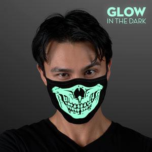 Man wearing Reusable Glow Skull Mask