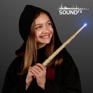 "Girl displaying 14.5"" Enchanted Wizard Magic Wand"