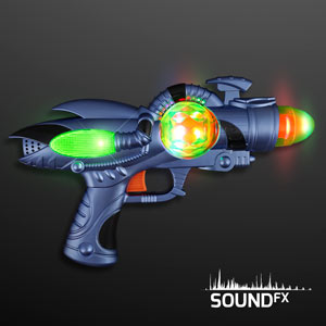 LED Space Sounds Light Up Gun Toy