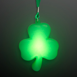 Big Light Up Shamrock Necklace for St. Paddy's Day