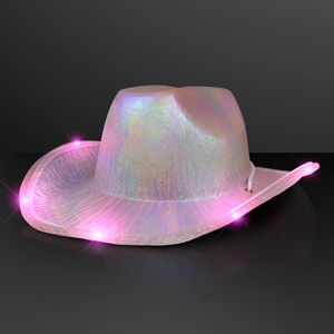 Iridescent Light Up Space Cowgirl Hat