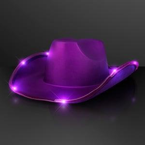Shiny Light Up Purple Cowboy Hat