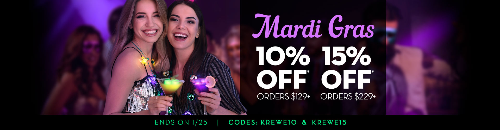 Mardi Gras Preview Offer Banner