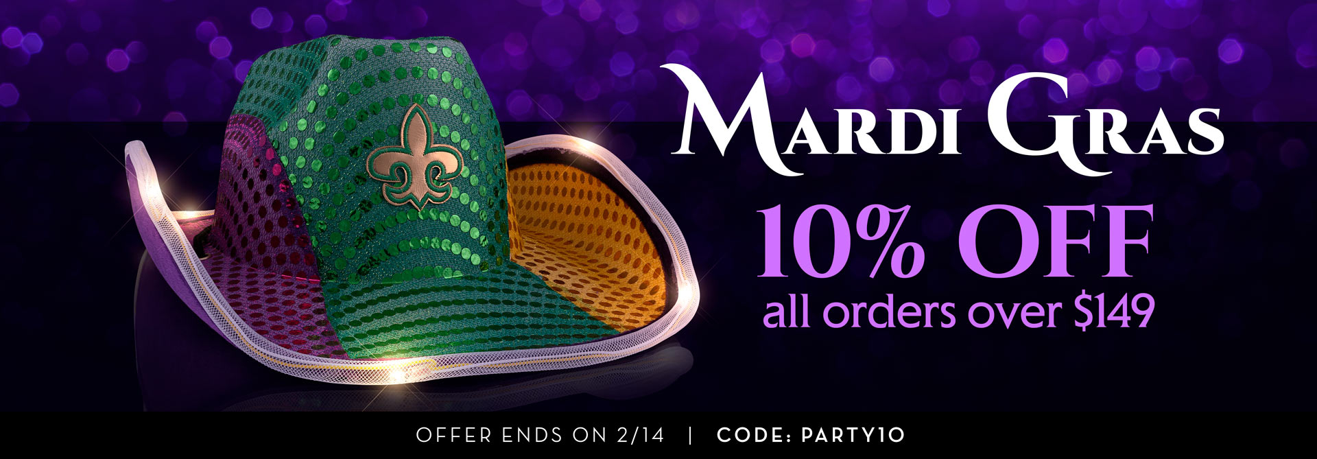 Mardi Gras Themed Promotional Offer