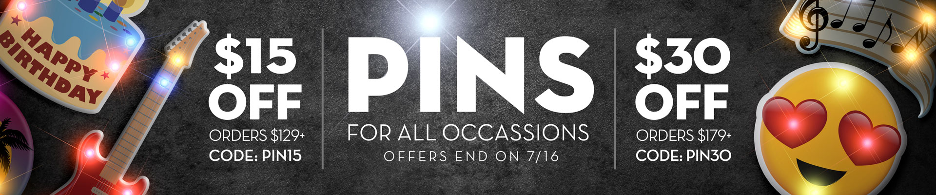 Pins and Body Lights promotional banner