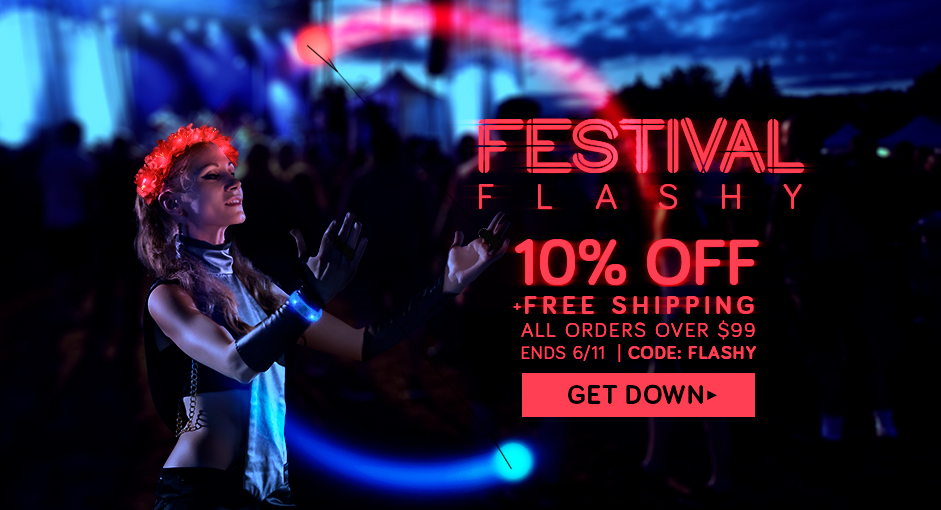 Up to 50% Flashy LED Festival Fashion